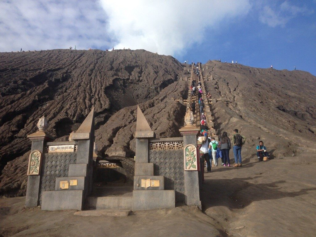 Stairway to the crater